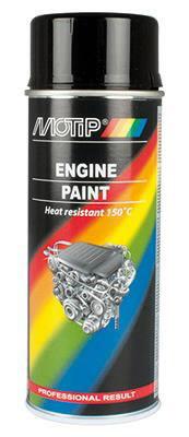 04092 MOTIP barva na motory černá 400ml 04092 MOTIP
